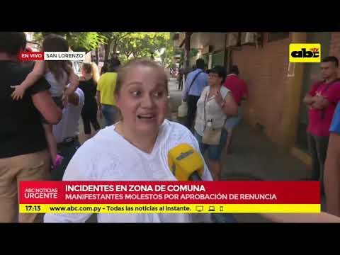 San Lorenzo: incidentes en zona de la Comuna