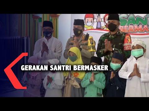 Gerakan Santri Bermasker, 50 Ribu Masker Dibagikan