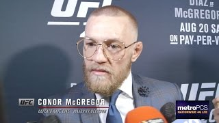 UFC 202: Conor McGregor Backstage Interview