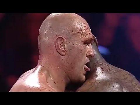 Tyson Fury mept Deontay Wilder het ziekenhuis in en likt zijn bloed op!