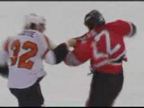 Riley Cote vs Arron Asham