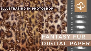 Create A Fantasy Fur Digital Paper In Photoshop Using Instapressionist Brushes & Free Download