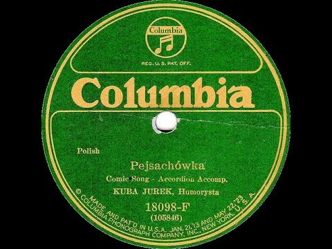 Polish 78rpm recordings, 1925. COLUMBIA 18098-F. Pejsachowka / Ona ma coś, a on nic
