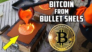 Casting Brass Bitcoin from Bullet Shells - Video Youtube