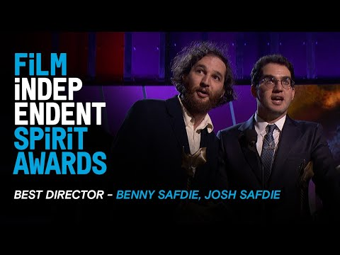 The Safdie Brothers with the most Safdie-esque speech of the night at the 2020 Film Independent Spirit Award accepting Best Director