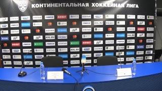 Послематчевая пресс-конференция «Адмирал» - ЦСКА