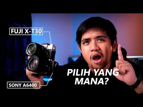 Download KAMERA MIRRORLESS MANA YANG TERBAIK ?!?!? | Fujifilm X-T30 Vs Sony a6400 Mp4 HD Video and MP3