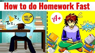 How To Do Homework Fast | Best Hacks To Complete The Pending Work | How to do Home work | Study tips