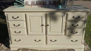 Furniture Redo Of This Large Cream Dresser