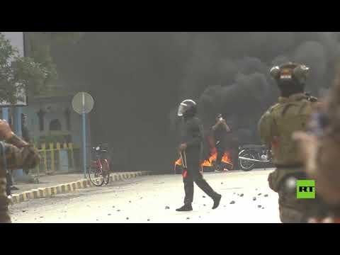 العرب اليوم - شاهد: استمرار المظاهرات المطالبة باستقالة الحكومة المحلية في النجف جنوب العراق