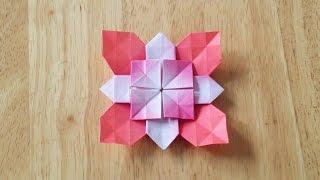 折り紙おりがみ・アジサイの折り方B
