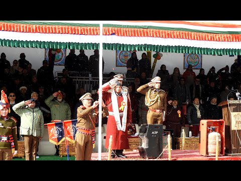 Republic Day celebration: Lieutenant Governor R K Mathur unfurls national flag in Leh
