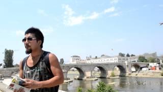 アキーラさん散策①旧ユーゴスラビア・マケドニア・スコピエの石橋,Skopje,Macedonia