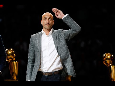 709ce025e23 San Antonio Spurs Give Manu Ginobili Touching Tribute Video For Jersey  Retirement
