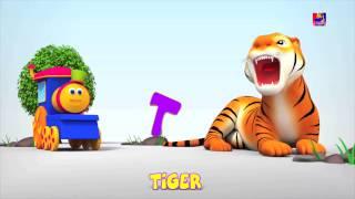 รถไฟบ๊อบเรียน ABC | เพลง 3D ตัวอักษรสำหรับเด็ก | เพลง ABC | A To Z | Abcd Song | 3D | Bob Animal Abc