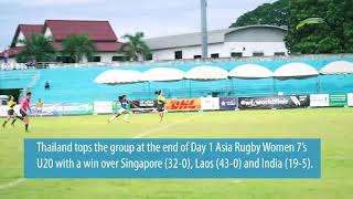 HIGHLIGHTS: Asia Rugby U20 Sevens Day 1