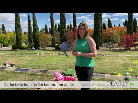 Interim memorials – simple cemetery markers prior to permanent memorials