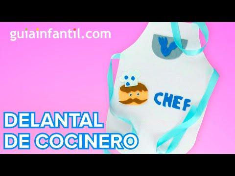 Cómo hacer un delantal de cocinero paso a paso | Manualidades infantiles