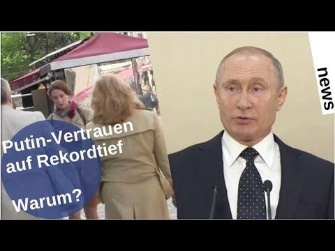 Putin-Vertrauen im Rekordtief – warum? [Video]