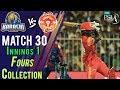 watch Islamabad United  Fours   Karachi Kings Vs Islamabad United   Match 30   16 March   HBL PSL 2018
