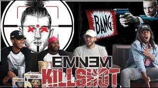 IT'S A CRIME SCENE! Eminem   KILLSHOT (Machine Gun Kelly Diss) REACTIONREVIEW