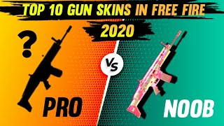 TOP 10 GUN SKINS IN FREE FIRE 2020