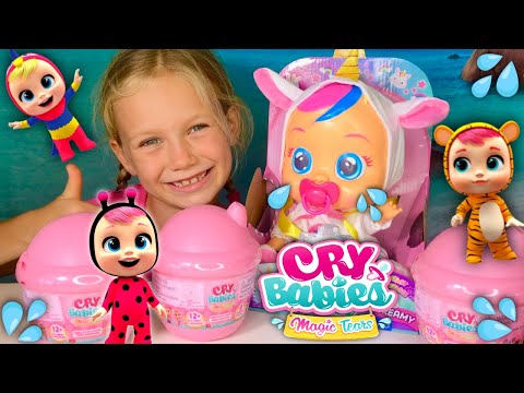 💦Cry Babies Magic Tears Unboxing With Skye!!! 😂Meet Cry Babies Fantasy Unicorn - Dreamy! 🦄