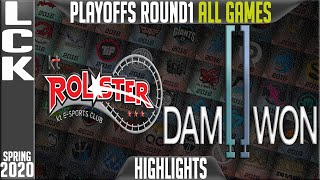 KT vs DWG Highlights ALL GAMES | LCK Spring 2020 Playoffs Round 1 | KT Rolster vs Damwon Gaming