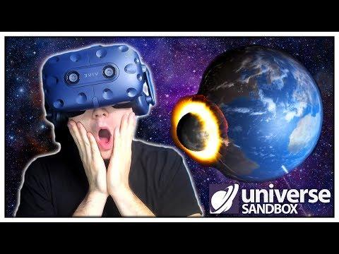 SRÁŽKA MĚSÍCE SE ZEMÍ!! (Universe Sandbox VR)