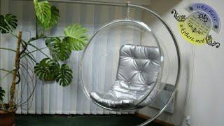 """Дизайнерское прозрачное кресло шар """"Bubble Chair"""" из акрила от компании Ukrbest - видео"""
