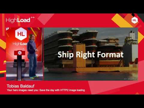 Tobias Baldauf speaking at HighLoad++ Moscow 2016
