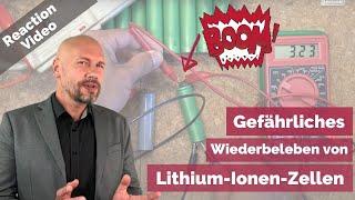 Gefährliche DIY-Videos: Wiederbeleben von Lithium-Ionen-Zellen kann zu Explosionen führen!