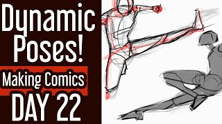 How To Draw Dynamic Poses | 30 Days Of Making Comics