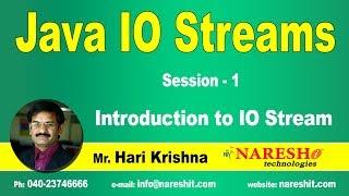 IO Streams   Session 1   Introduction to IO Stream   Core Java Tutorial   Mr. Hari Krishna