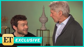 Watch Harrison Ford Surprise Young Han Solo Alden Ehrenreich During ET Interview (Exclusive) - Video Youtube