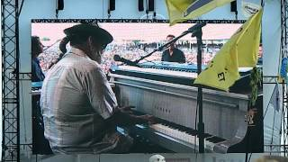 Bruce Springsteen and Dr. John getting down at New Orleans Jazz Fest 2012