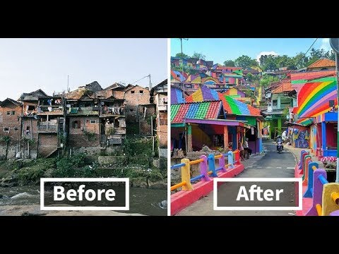 Indonesian Government Paid $22K To Give Slum Village A Colorful Makeover, And Result Is Amazing