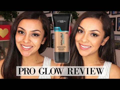 L'oreal Pro Glow Foundation Review + Demo - TrinaDuhra