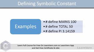 What are symbolic constants in C? - Video in Hindi