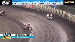 Knoxville Raceway 410 Highlights - The One and Only Night #1 - August 13, 2020