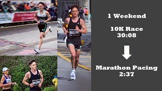 Canadian 10K Championships (4th - 30:08) - Followed by pacing a 2:37 Marathon in the morning.