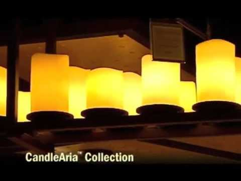 Video for CandleAria Black Flat Rim Twelve-Light Ring