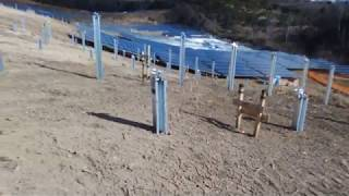 石巻の太陽光発電所の建設中の様子・その1提供:トリナ・ソーラー・ジャパン・エナジー