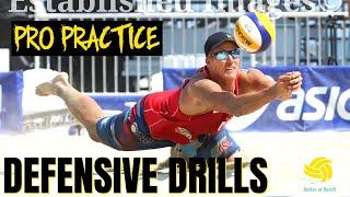 Men's Beach Volleyball   How AVP Pros Train   Defensive Drills