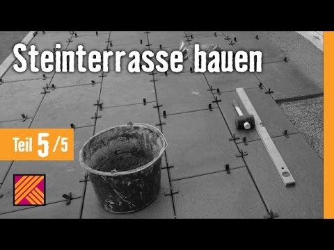 Version 2013 Steinterrasse bauen - Kapitel 5: Terrassenplatten verlegen & verfugen |
