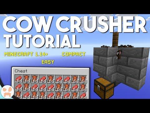 EASY COW FARM TUTORIAL!   Minecraft 1.15+, Compact