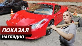 Удаление вмятин без покраски обучение на Ferrari, Buktes izvilkšana ar bezkrāsošanas