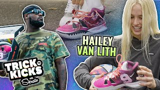 World's #1 Sneaker Artist Makes HAILEY VAN LITH Space Jam Kyries!! Then Plays Her In KNOCKOUT 😱