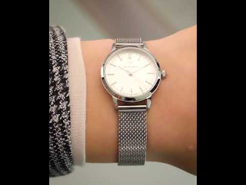 Renard Elite 25.5 ladies watch white/silver mesh