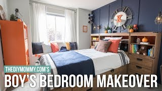 BOYS BEDROOM MAKEOVER! | Modern Nautical Style | The DIY Mommy